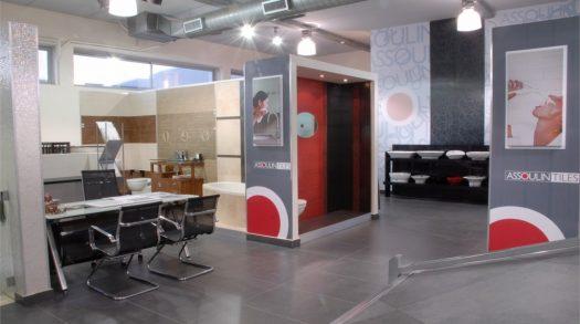 עיצוב מסחרי לאולם תצוגה קרמיקה בראשון לציון