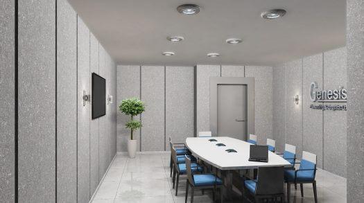 עיצוב משרדי לחברת ג'נסיס