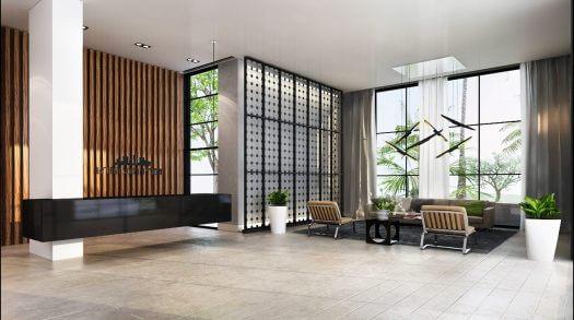 עיצוב לובי בבנייני חברת