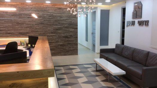 עיצוב משרדי חברת הבניה שמעון צרפתי אשדוד