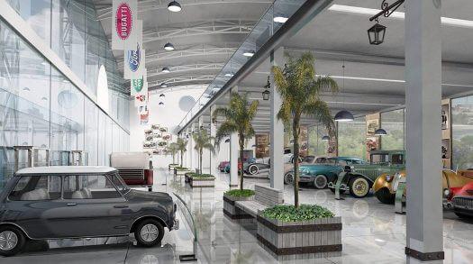 עיצוב מסחרי ותכנון למוזיאון הרכב