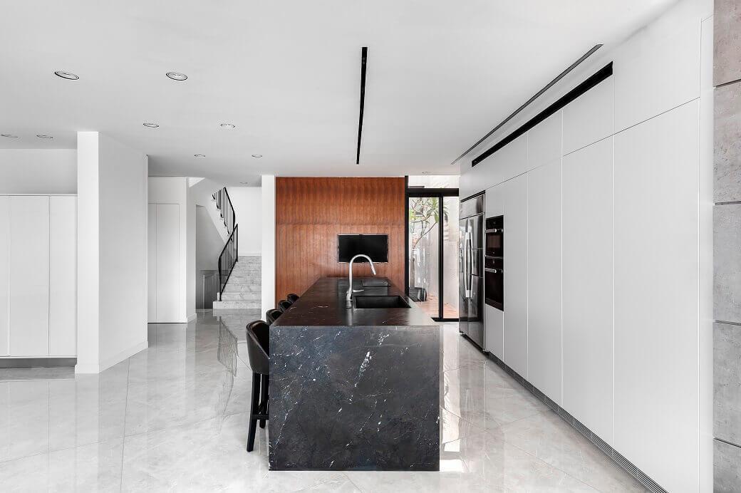 עיצוב אי מטבח באשקלון קינן אדריכלות ועיצוב פנים