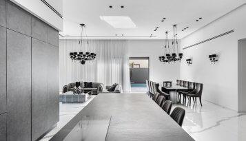 עיצוב בתים בגווני האפור קינן אדריכלות