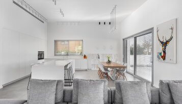עיצוב מטבח לבן יוקרתי קינן אדריכלות